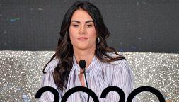Sanremo 2020, Francesca Sofia Novello bullizzata cade su Georgina
