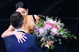 Sanremo 2020, Georgina Rodriguez e Ronaldo: le immagini