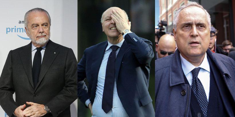 Lotito-De Laurentiis contro Marotta, indignazione sul web