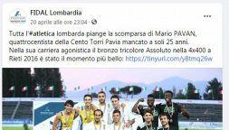 Mario Pavan, il ricordo dell'atleta che ha lottato contro la Sla