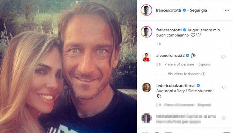 Totti-Ilary: emergono dettagli del loro amore in giorno speciale