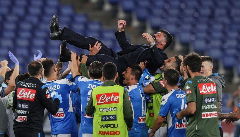Napoli,l'emozionante discorso di Gattuso in campo dopo il trionfo