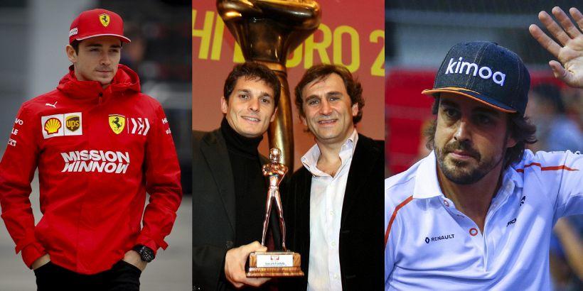 """F1 in coro: """"Forza Alex!"""" da Leclerc ad Alonso tutti con Zanardi"""