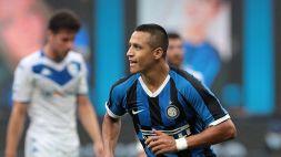 Sanchez si prende l'Inter: Brescia umiliato
