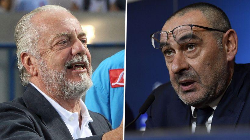 """De Laurentiis su Sarri: """"Ha fatto 2-3 c...e"""""""