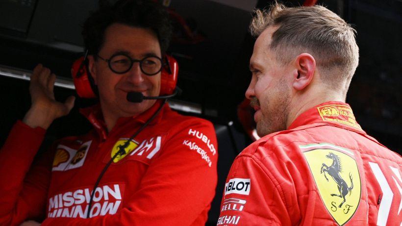 F1, Ferrari: il retroscena di Binotto sull'addio a Sebastian Vettel