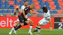 Bologna e Cagliari chiudono sull'1-1