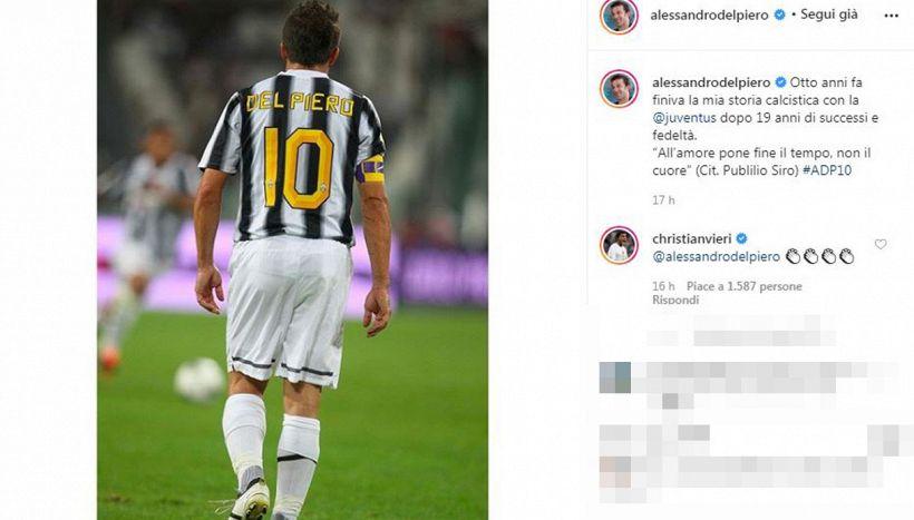 Alessandro Del Piero, lo struggente ricordo dell'addio alla Juve