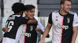 La Juve vince il derby: poker con Ronaldo e Dybala. Record Buffon