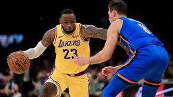 NBA, i Lakers tornano alla vittoria