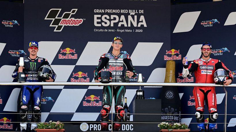 MotoGp, Jerez: trionfa Quartararo, Marquez cade e si fa male. Rossi ko