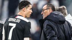 Juventus, Cristiano Ronaldo furente: la protesta con Sarri