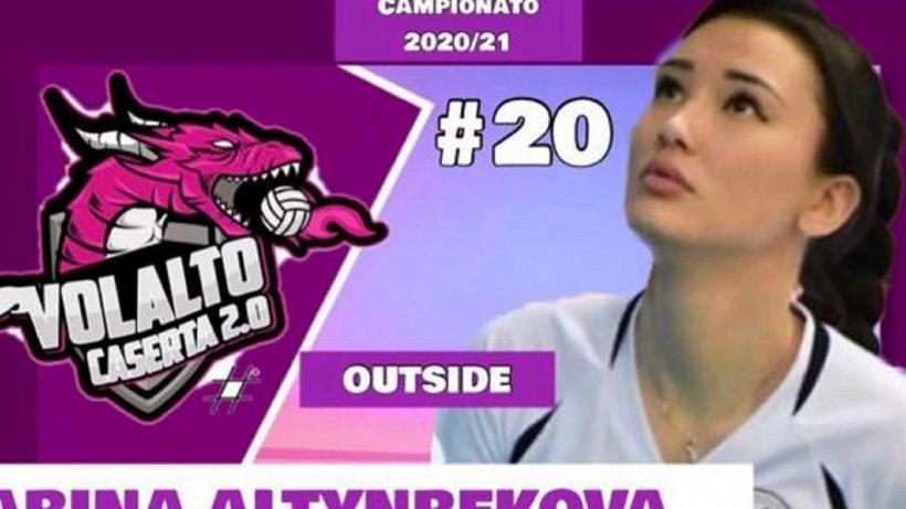 Sabina Altynbekova incanta Caserta