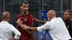 """Milan, Pioli: """"Ibrahimovic arrabbiato, ma abbiamo bisogno di lui"""""""