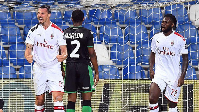 È il Milan di Ibrahimovic: Sassuolo steso, rossoneri da Europa