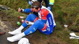 Giro di Polonia, altra caduta: Delage in ospedale