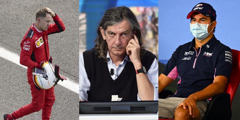 """F1, Vettel bocciato da Terruzzi ma è bufera sul """"fumo"""" di Perez"""