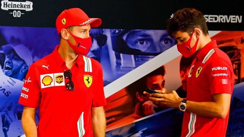 """F1: Ferrari, Vettel e Leclerc faticano: """"Così non basta"""""""