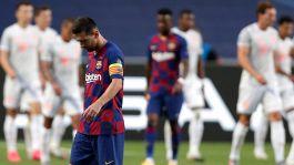Champions, il Bayern vince 8-2: Barcellona e Messi umiliati