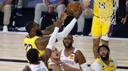 NBA: Gallinari trascina Oklahoma contro LeBron
