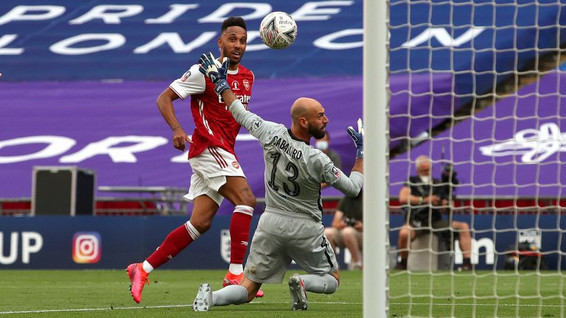 Aubameyang stende il Chelsea: FA Cup all'Arsenal