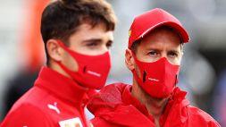 F1, Ferrari: lo sconforto di Leclerc e Vettel. Binotto nega la crisi
