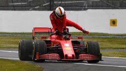 F1, Silverstone: Vettel rompe, Ferrari in grande difficoltà