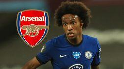 Willian lascia il Chelsea, è ufficiale: futuro all'Arsenal
