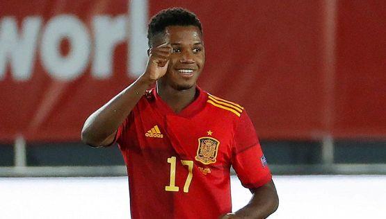 Ansu Fati è leggenda: gol epico con la Spagna e altro record