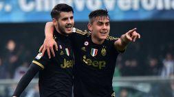 """Juve, Dybala entusiasta di Morata: """"Che bello"""""""