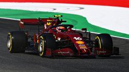 F1, Gp Mugello: le foto della Ferrari in amaranto