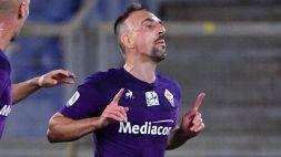 Fiorentina-Lucchese 5-0: doppiette per Ribery e Kouamé