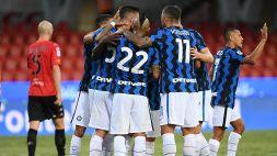 Ciclone Inter, Benevento schiantato e primo posto