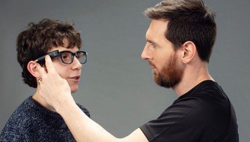 Messi e il sogno di ridare la vista ai non vedenti