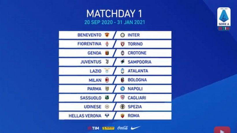 Serie A 2020-21, ecco il calendario
