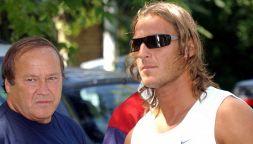 """Francesco Totti e il papà Enzo, detto """"lo sceriffo"""""""