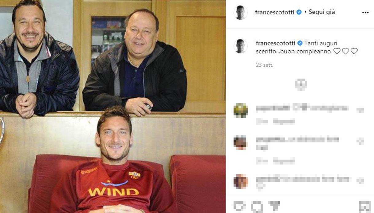 Enzo Totti, il compleanno con i figli Riccardo e Francesco - Francesco Totti  e il papà Enzo, detto