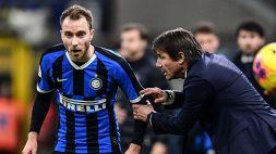 Champions: Inter, Antonio Conte dà l'ultimatum ad Eriksen