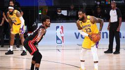 NBA: gara 4 ai Lakers che volano sul 3-1
