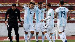 Lautaro e Correa a segno per l'Argentina, il Brasile vince in Perù