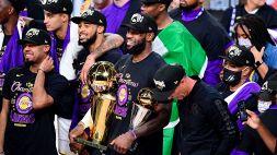 NBA: le foto dei Los Angeles Lakers campioni