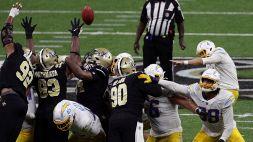 NFL: le foto di Los Angeles Chargers-New Orleans Saints 27-30