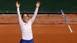 Roland Garros: le foto dell'impresa della Trevisan