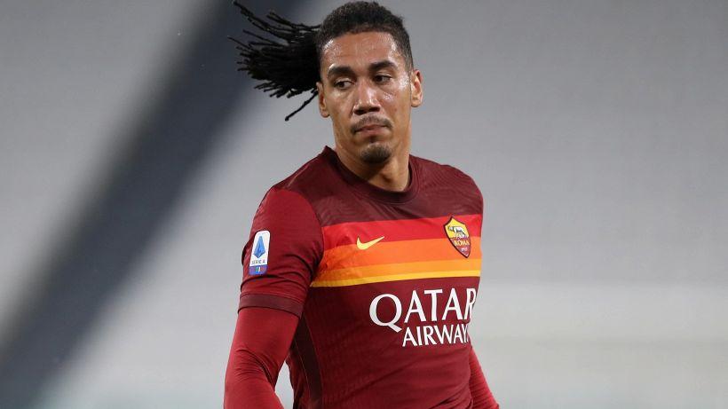 Calvario Smalling: infortunio muscolare in Roma-Man Utd