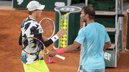 Roland Garros, Sinner si arrende a Nadal