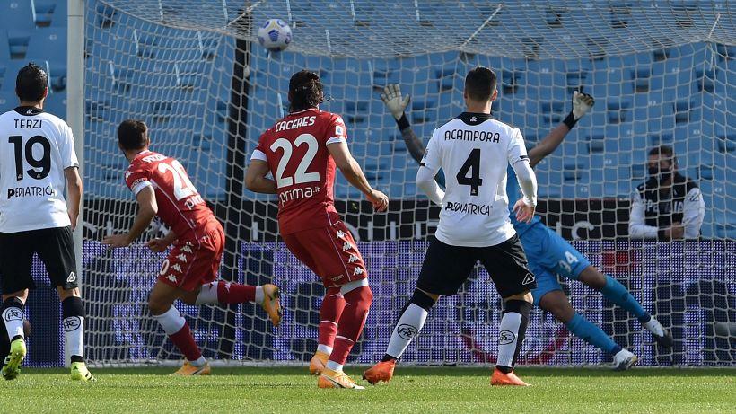 Fiorentina rimontata dallo Spezia: 2-2