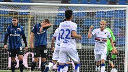 Nuovo tracollo dell'Atalanta: tris della Sampdoria