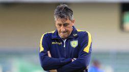 L'allenatore del Chievo amareggiato dopo il ko nei minuti di recupero contro il Lecce.