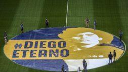 Il Boca segna e celebra Maradona