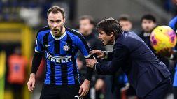 Inter, Antonio Conte manda altre frecciate ad Eriksen
